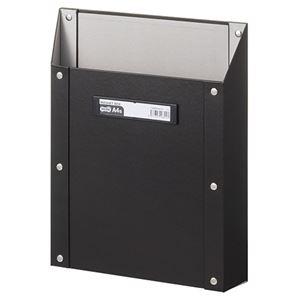 その他 (まとめ) TANOSEEマグネットボックス(貼り表紙) A4タテ型 黒 1個 【×10セット】 ds-2225562