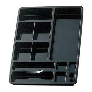 その他 (まとめ) ライオン事務器 デスクイントレーW320×D425×H48mm ブラック CS-58 1個 【×10セット】 ds-2225566