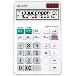 その他 (まとめ) シャープ エルシーメイト電卓 12桁ナイスサイズ EL-N432-X 1台 【×10セット】 ds-2225660