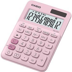 その他 (まとめ) カシオ カラフル電卓 ミニジャストタイプ12桁 ペールピンク MW-C20C-PK-N 1台 【×10セット】 ds-2225678