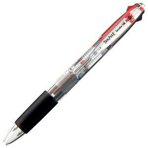 その他 (まとめ) TANOSEE ノック式油性2色ボールペン(なめらかインク) 極細 0.5mm 1セット(10本) 【×10セット】 ds-2225918