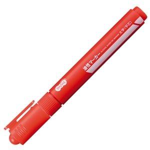 その他 (まとめ) TANOSEE キャップ式油性マーカー シングル 太字 赤 1セット(50本) 【×10セット】 ds-2225927