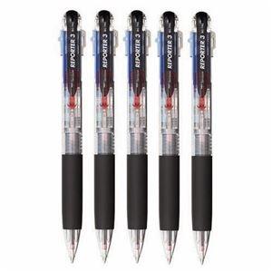 その他 (まとめ) トンボ鉛筆 3色油性ボールペン リポーター3 0.7mm (軸色 透明) 業務用パック BC-TRC205P 1箱(5本) 【×10セット】 ds-2225938