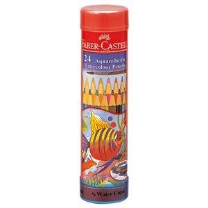 その他 (まとめ) ファーバーカステル 水彩色鉛筆 丸缶24色 TFC-115924 1セット 【×10セット】 ds-2226025
