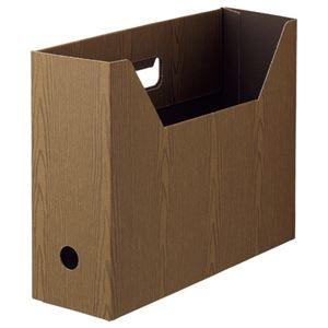 その他 (まとめ) TANOSEEボックスファイル(WOODY) A4ヨコ 背幅100mm ブラウン 1セット(15冊:3冊×5パック) 【×10セット】 ds-2226728
