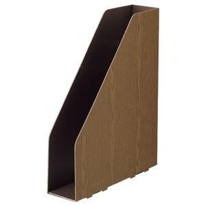 その他 (まとめ) TANOSEEボックスファイル(WOODY) A4スリムタテ 背幅65mm ブラウン 1セット(15冊:3冊×5パック) 【×10セット】 ds-2226744