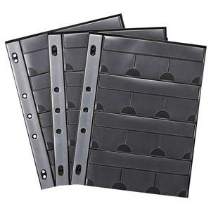 その他 (まとめ) サンワサプライ メモリーカードファイルケースシート A4 2・3・4穴 片面12ポケット FC-MMC9BK 1パック(3枚) 【×10セット】 ds-2226801