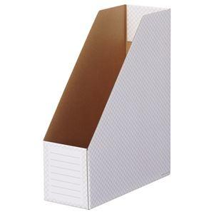 その他 (まとめ) TANOSEE ボックスファイル(ホワイト) A4タテ 背幅100mm グレー 1パック(10冊) 【×10セット】 ds-2226831