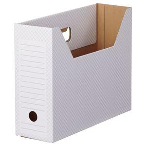 その他 (まとめ) TANOSEE ボックスファイル(ホワイト) A4ヨコ 背幅100mm グレー 1パック(10冊) 【×10セット】 ds-2226834
