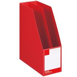 その他 (まとめ) ライオン事務器 ボックスファイル 板紙製A4タテ 背幅105mm 赤 B-880S 1冊 【×10セット】 ds-2226875