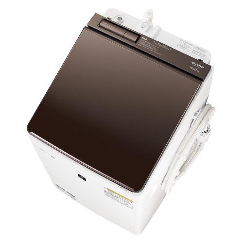 シャープ 超音波ウォッシャー搭載 タテ型洗濯乾燥機 ES-PW10D-T【納期目安:2週間】