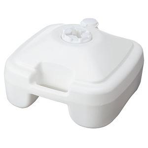その他 (まとめ) 店研創意 ストア・エキスプレスのぼり用ポールスタンド 注水型 白 1台 【×10セット】 ds-2228343