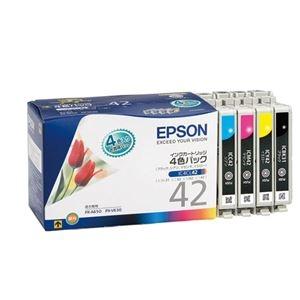 その他 (まとめ) エプソン EPSON インクカートリッジ 4色パック IC4CL42 1箱(4個:各色1個) 【×10セット】 ds-2229992