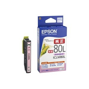 その他 (まとめ) エプソン インクカートリッジライトマゼンタ(増量) ICLM80L 1個 【×10セット】 ds-2230065