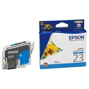 その他 エプソン EPSON インクカートリッジ シアン ICC23 1個 【×10セット】 ds-2230309