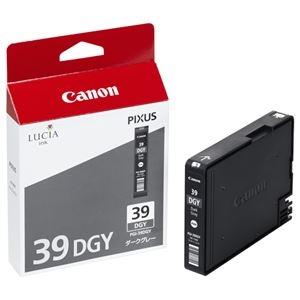 その他 (まとめ) キヤノン Canon インクタンク PGI-39DGY ダークグレー 4858B001 1個 【×10セット】 ds-2230416