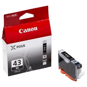 その他 (まとめ) キヤノン Canon インクタンク BCI-43BK ブラック 6376B001 1個 【×10セット】 ds-2230457