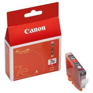 その他 (まとめ) キヤノン Canon インクタンク BCI-7eR レッド 0370B001 1個 【×10セット】 ds-2230462