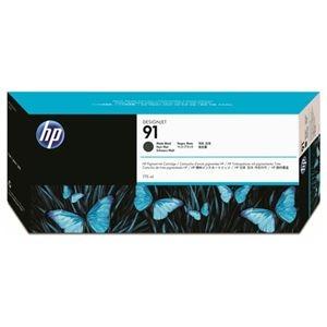 その他 (まとめ) HP91 インクカートリッジ マットブラック 775ml 顔料系 C9464A 1個 【×10セット】 ds-2230575