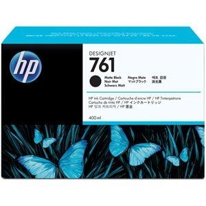 その他 (まとめ) HP761 インクカートリッジ マットブラック 400ml 顔料系 CM991A 1個 【×10セット】 ds-2230593