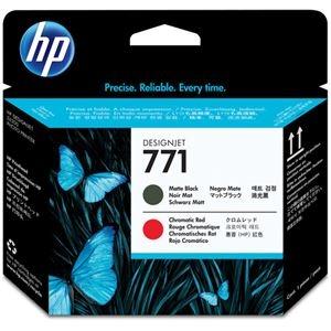 その他 (まとめ) HP771 プリントヘッド マットブラック/クロムレッド CE017A 1個 【×10セット】 ds-2230605