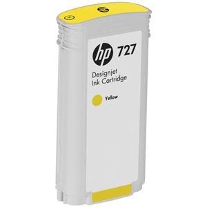 その他 (まとめ) HP727 インクカートリッジ 染料イエロー 130ml B3P21A 1個 【×10セット】 ds-2230657