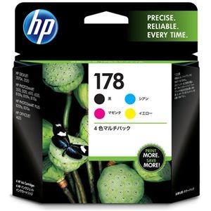その他 (まとめ) HP178 インクカートリッジ 4色マルチパック CR281AA 1箱(4個:各色1個) 【×10セット】 ds-2230712