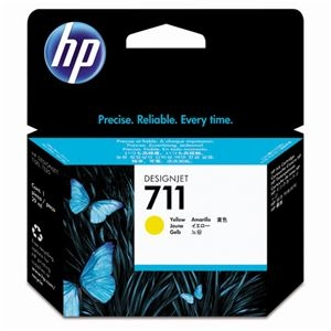 その他 (まとめ) HP711 インクカートリッジ イエロー 29ml 染料系 CZ132A 1個 【×10セット】 ds-2230729