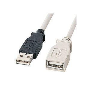 その他 (まとめ) サンワサプライ USB延長ケーブルKU-EN5K 1本 【×10セット】 ds-2231307