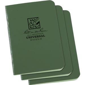 その他 (まとめ) ライトインザレインミニステイプルノートブック グリーン 971FX-M 1パック(3冊) 【×10セット】 ds-2231746