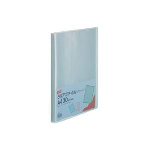 その他 (まとめ) TANOSEE クリアファイル A4タテ30ポケット 背幅17mm グリーン 1セット(10冊) 【×10セット】 ds-2232089