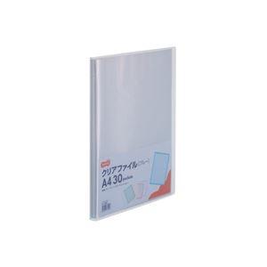 その他 (まとめ) TANOSEE クリアファイル A4タテ30ポケット 背幅17mm ブルー 1セット(10冊) 【×10セット】 ds-2232090