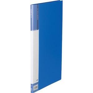 その他 (まとめ) TANOSEEクリヤーファイル(台紙入) A4タテ 10ポケット 背幅11mm ブルー 1セット(10冊) 【×10セット】 ds-2232117