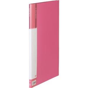 その他 (まとめ) TANOSEEクリヤーファイル(台紙入) A4タテ 10ポケット 背幅11mm ピンク 1セット(10冊) 【×10セット】 ds-2232118