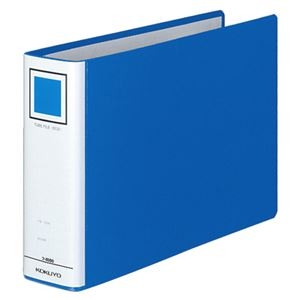 その他 (まとめ) コクヨ チューブファイル(エコ) 片開き B5ヨコ 500枚収容 背幅65mm 青 フ-E656B 1冊 【×10セット】 ds-2232301