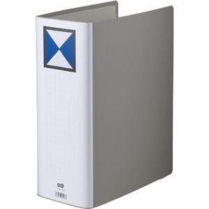 その他 (まとめ) TANOSEE 両開きパイプ式ファイル A4タテ 1000枚収容 背幅116mm グレー 1冊 【×10セット】 ds-2232376