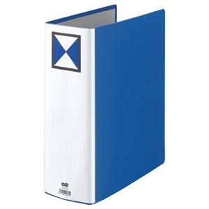 その他 (まとめ) TANOSEE 両開きパイプ式ファイル A4タテ 900枚収容 背幅106mm 青 1冊 【×10セット】 ds-2232384