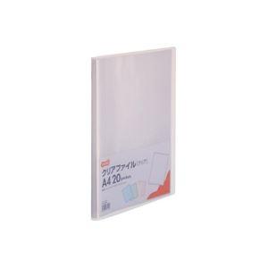 その他 (まとめ) TANOSEE クリアファイル A4タテ20ポケット 背幅14mm クリア 1セット(10冊) 【×10セット】 ds-2232613