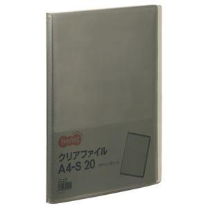 その他 (まとめ) TANOSEE クリアファイル A4タテ20ポケット 背幅14mm グレー 1セット(10冊) 【×10セット】 ds-2232618