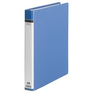 その他 (まとめ) TANOSEE クリヤーファイル(貼り表紙) A4タテ 30穴 25ポケット付属 背幅42mm 青 1冊 【×10セット】 ds-2232703