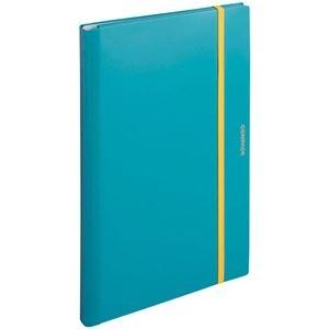 その他 (まとめ) キングジム 二つ折りクリアーファイルコンパック A3 10ポケット 水色 5896H 1冊 【×10セット】 ds-2232705