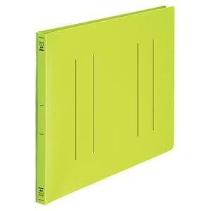 その他 (まとめ) フラットファイル バインダー <PP> 発泡PP B4ヨコ 2穴 収容寸法15mm 黄緑 10冊 【×10セット】 ds-2232744