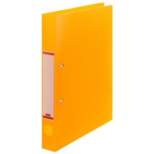 その他 (まとめ) TANOSEEDリングファイル(半透明表紙) A4タテ 2穴 200枚収容 背幅38mm オレンジ 1セット(10冊) 【×10セット】 ds-2232800