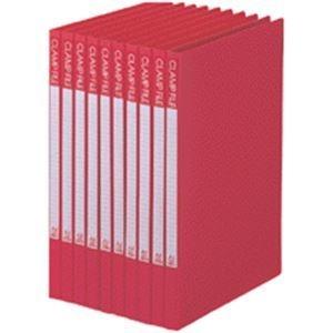 その他 (まとめ) ビュートン クランプファイル A4タテ100枚収容 背幅17mm レッド BCL-A4-R 1セット(10冊) 【×10セット】 ds-2232819