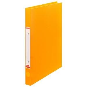 その他 (まとめ) TANOSEEOリングファイル(半透明表紙) A4タテ リング内径20mm オレンジ 1セット(10冊) 【×10セット】 ds-2232883