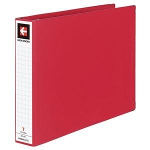 その他 (まとめ) コクヨ データバインダーT(バースト用・ワイドタイプ) T11×Y15 22穴 450枚収容 赤 EBT-551R 1冊 【×10セット】 ds-2233008