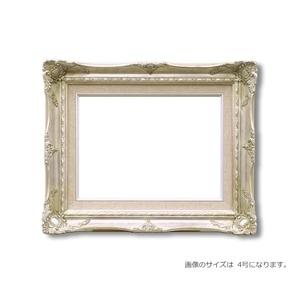 その他 【ルイ式油額】高級油絵額・キャンバス額・豪華油絵額・模様油絵額 ■F8号(455×380mm)シルバー ds-2213836