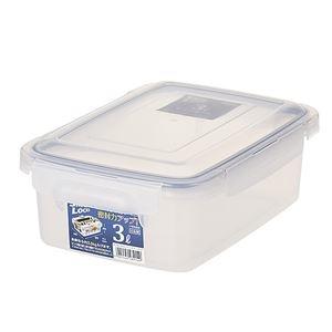 その他 (まとめ) 保存容器/ロック式ジャンボケース 【3L】 銀イオン(AG+)配合 抗菌仕様 日本製 キッチン用品 【×24個セット】 ds-2247063