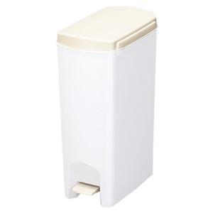 その他 (まとめ) ペダル式 ゴミ箱/ダストボックス 【15L ホワイト】 フタ付き スリム 『セパ』 【×6個セット】 ds-2247577