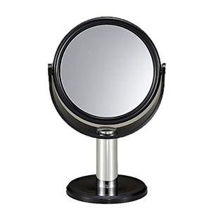 その他 (まとめ) スタンドミラー/卓上鏡 【10倍拡大鏡付き】 鏡サイズ(約):直径10.5cm 【×36個セット】 ds-2248081